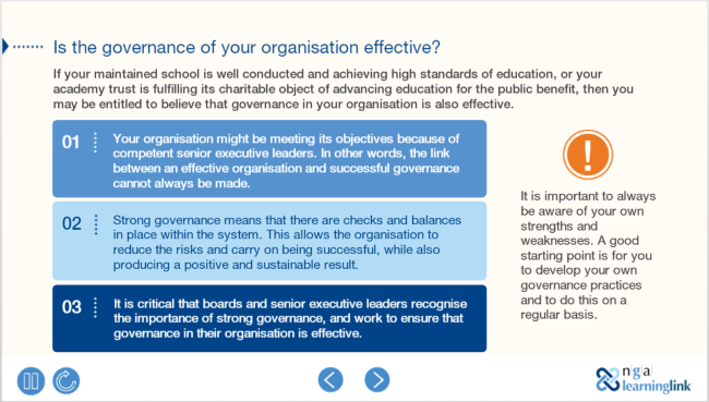 Effectiveness: Governance making an impact, changing lives module preview
