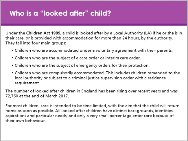 Looked after children module
