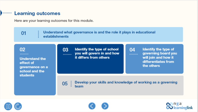Preview of the Governance: Your role, responsibilities and organisation module