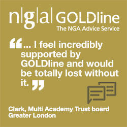 """... I feel incredibly supported by GOLDline and would be totally lost without it."" Clerk, Multi Academy Trust board, Greater London"