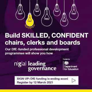 Leading Governance development programmes - sign up: DfE funding is ending soon. Register by 12 March 2021