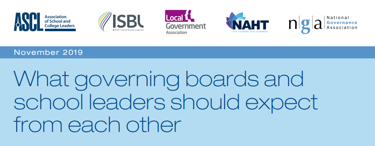 What governing boards and school leaders should expect from each other