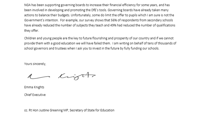 End uncertainty surrounding education funding' asks NGA in letter to